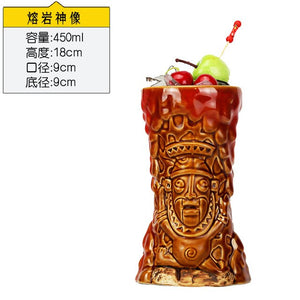 Hawaii Tiki Mugs Cocktail Cup Beer Beverage Mug Wine Mug Ceramic Easter Islander Tiki Mugs Great For Cocktail Drink