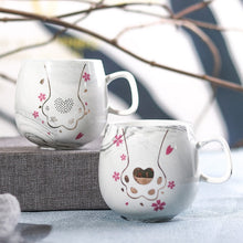 Load image into Gallery viewer, Flamingo Coffee Mugs Ceramic Mug Travel Cup Cute Cat Foot Ins 72*85mm 350ml H1215