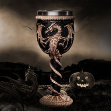 Load image into Gallery viewer, 3D Gothic Skull Cup Stainless Steel Resin Fly Dragon Skeleton Design for Bar Party Home Wine Goblet Cups Halloween Gifts
