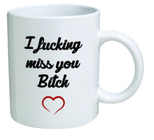 Load image into Gallery viewer, I Miss You B Fiend Heart Girlfriends Long Distance Frienship 11 Ounces Gift Coffee Mug