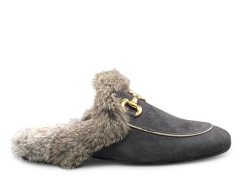 Backless Loafer with Fur Shoe Nimmo shoes