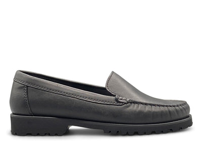Black Leather Loafer with Vibram Sole Shoe Nimmo shoes