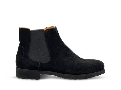 Black Suede Ankle Boots Shoe Nimmo shoes