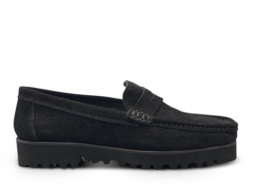 Black Suede Loafer with Vibram Sole Shoe Nimmo shoes