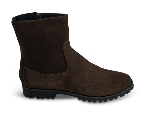 Brown Suede Ankle Boots with Fleece Lining Shoe Nimmo shoes