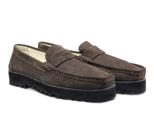 Brown Suede Loafer with Vibram Sole Shoe Nimmo shoes