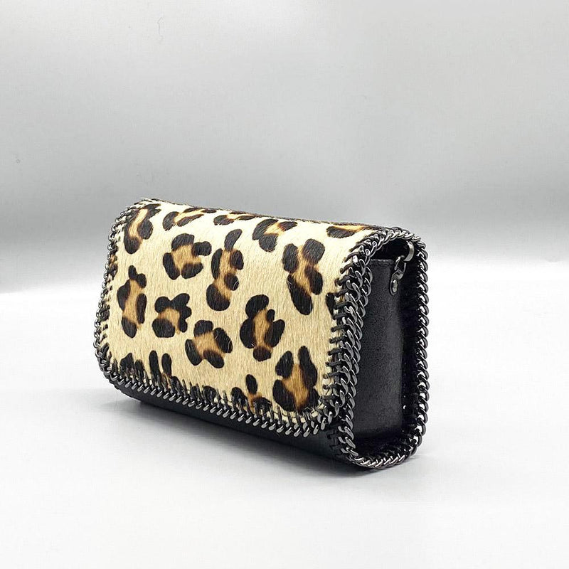 Calf Hair Bag - Leopard Print (Light Beige) Clutch Nimmo shoes