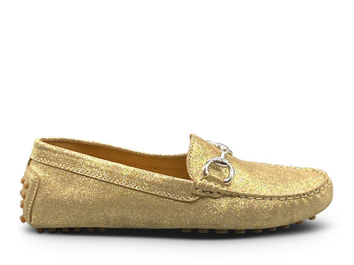 Dark Gold Loafer - Silver Hardware Shoe Nimmo shoes