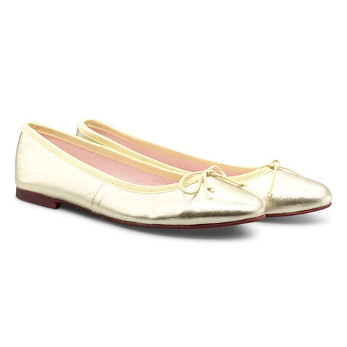 Gold Ballerina Shoe Nimmo shoes