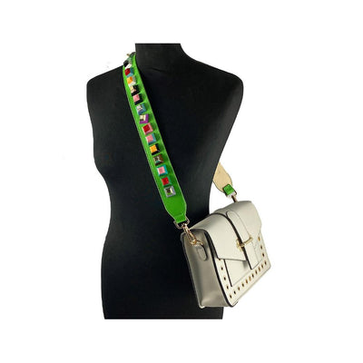 Green studded Bag strap Nimmo Shoes