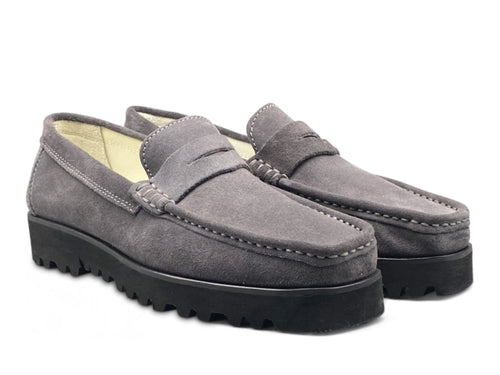 Grey Suede Loafer with Vibram Sole Shoe Nimmo shoes