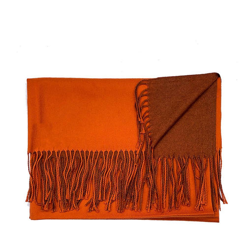 Lg. Burnt Orange / Brown Cashmere Scarf Pashmina Nimmo shoes