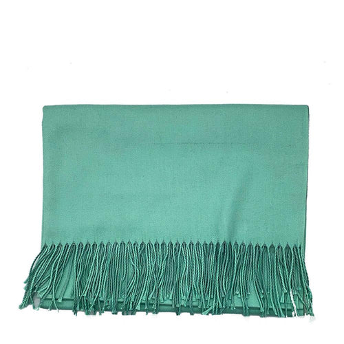 Lg. Dark Green / Light Green Cashmere Scarf Pashmina Nimmo shoes