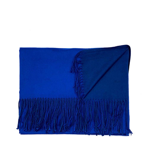 Lg. Royal Blue / Navy Cashmere Scarf Pashmina Nimmo shoes