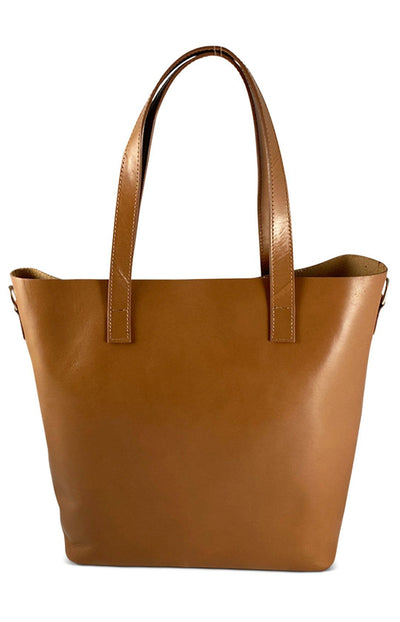 Lrg Tan Leather Shopper Bag Nimmo shoes