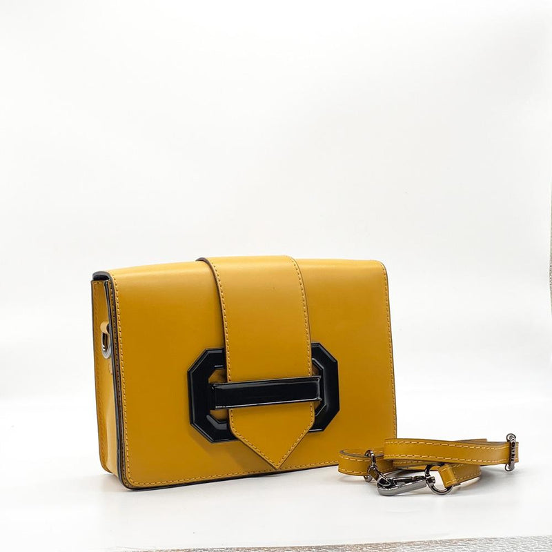 Mustard Leather Clutch Clutch Nimmo shoes