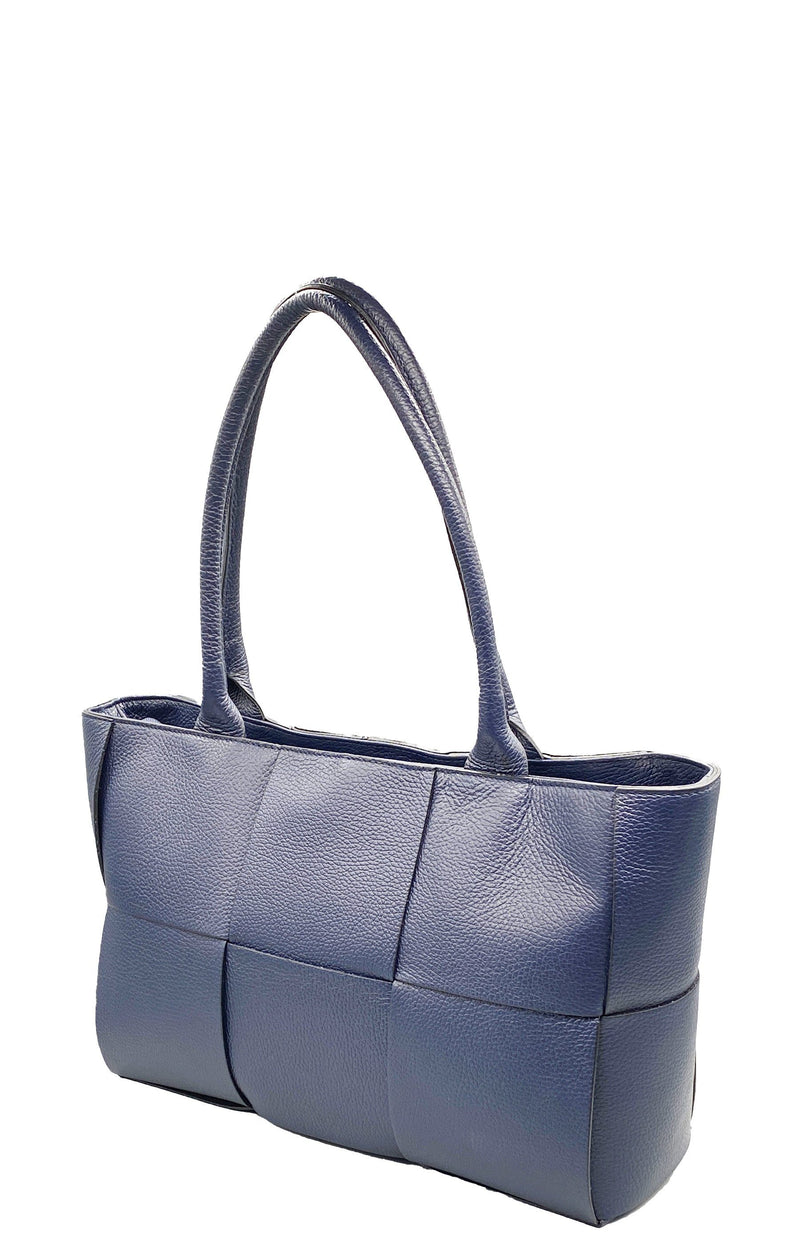 Navy Blue Shopper Bag Bag Nimmo Shoes