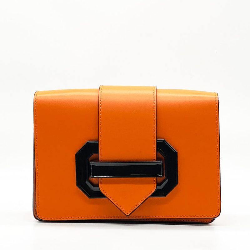 Orange Leather Clutch Clutch Nimmo shoes
