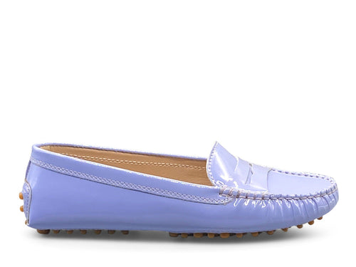 Patent Blue Loafer Shoe Nimmo shoes