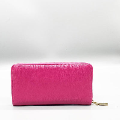 Pink Leather Long Wallet Nimmo Shoes