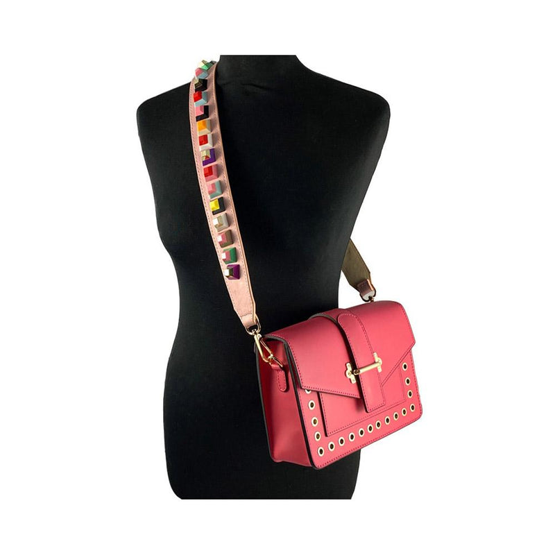 Pink studded Bag strap Nimmo Shoes