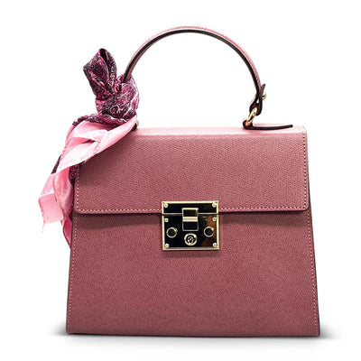 Plain Leather Classic Day Bag - Dark Pink Bag Nimmo Shoes