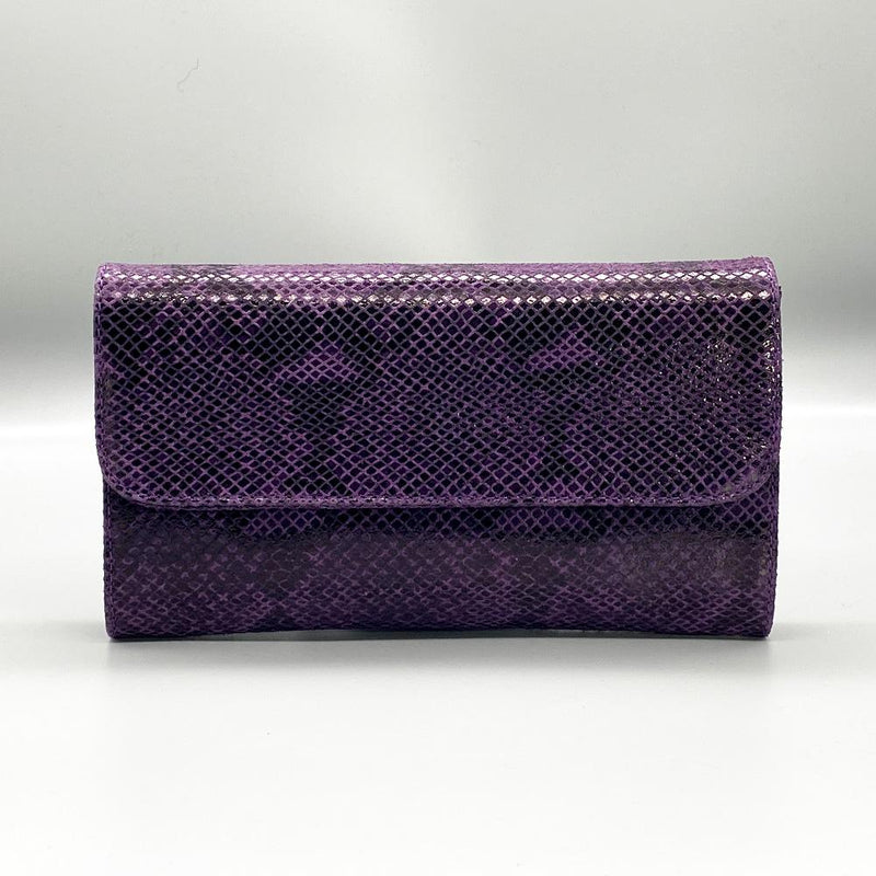 Purple Python Effect Leather Clutch Nimmo shoes