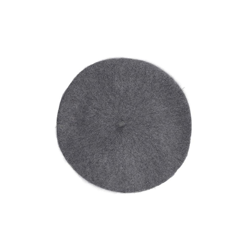 Wool Beret - Light Grey Hat Nimmo Shoes