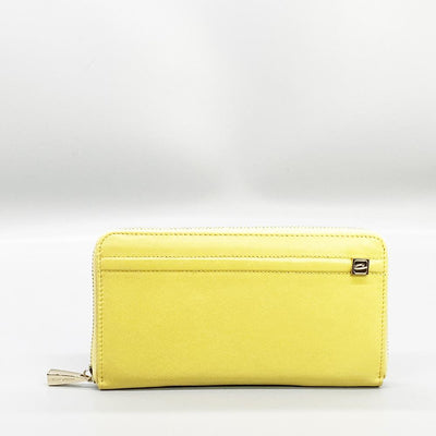 Yellow Leather Long Wallet Nimmo Shoes