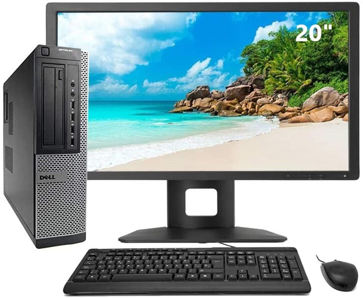 DELL Optiplex 7010 cheap full desktop computer i5 - 3470 GHz | 8GB RAM | 500HDD | DVD | WIN 10 PRO + TFT 20""