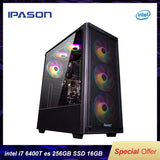 IPASON Gaming Desktop Intel I7 6400T es QHQG ES Engineering version Q0 2.2HMZ 16G RAM 240G/256G SSD
