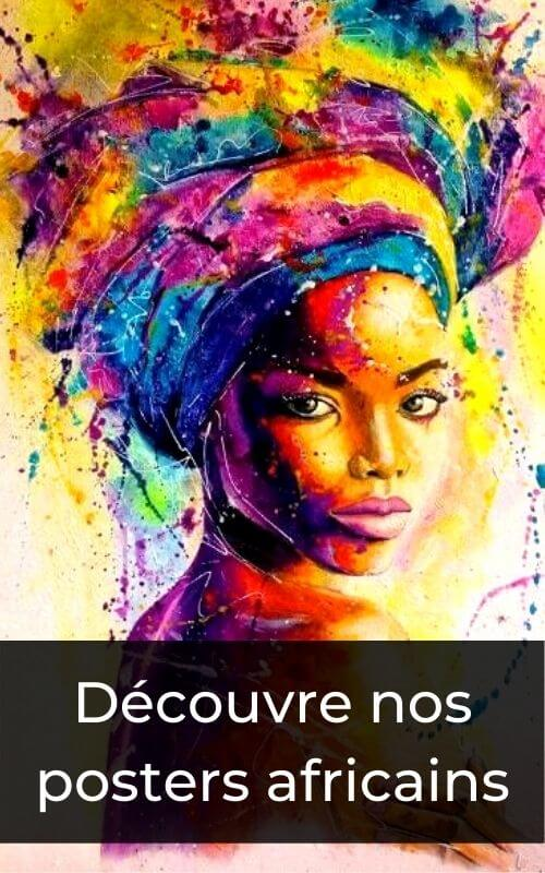 maquillage africain d'une femme africaine