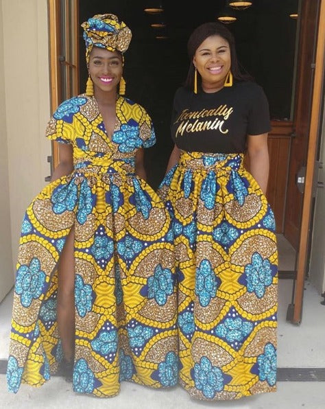 robe africaine ornements