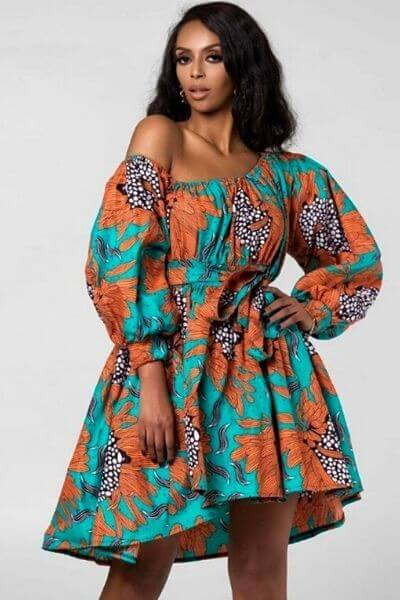 robe africaine avec manches