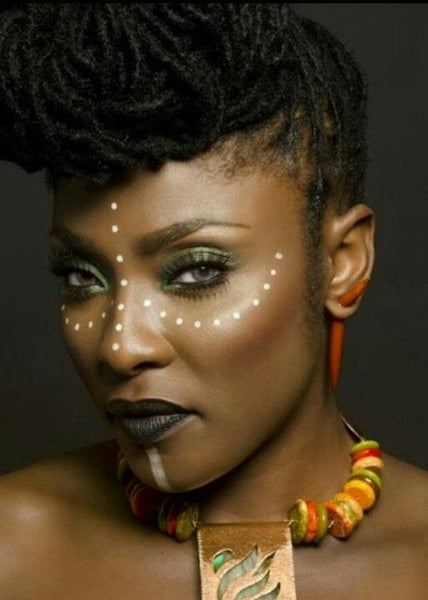 maquillage africain tribal