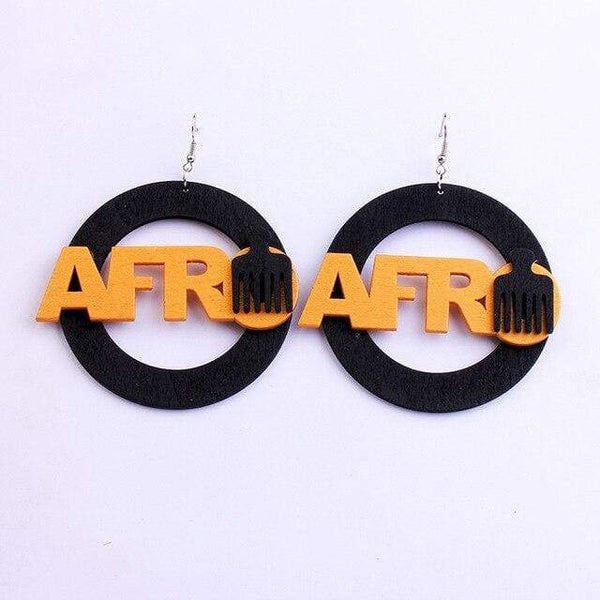 Boucles d'Oreilles Africaines Afro