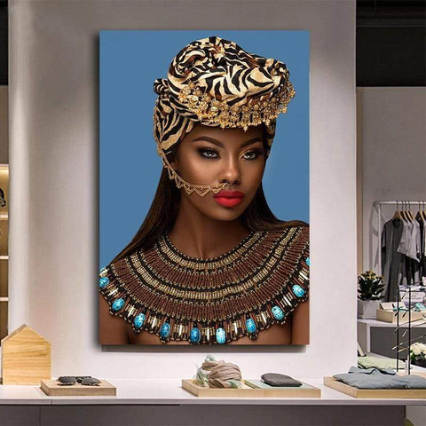 Poster Africain Femme Africaine Noble