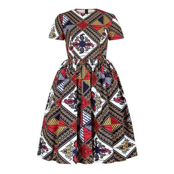 Robe Africaine à Carreaux