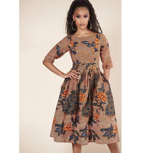 Robe Africaine Fleurs Anciennes