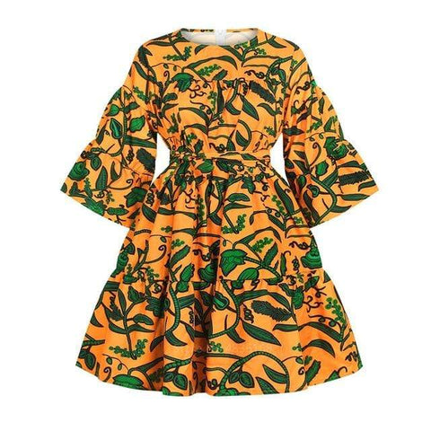 Robe Africaine Jardin Luxuriant