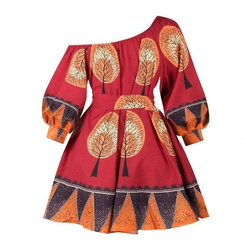 Robe Africaine Motifs Arbres
