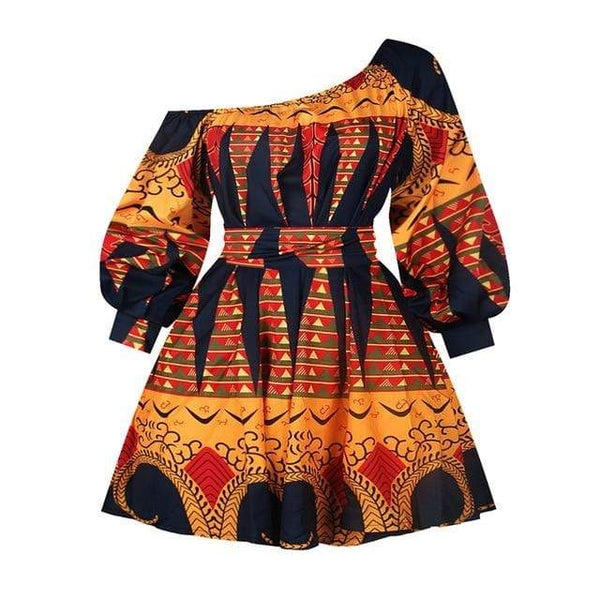 Robe Africaine Orange et Noir