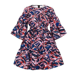 Robe Africaine Plantes Bleues