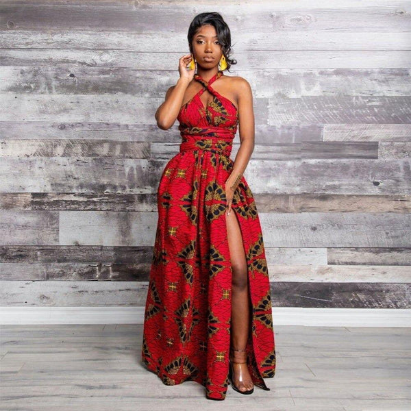 Robe Africaine Rouge Vif