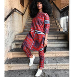 Tenue Africaine Tunique et Pantalon Rouge