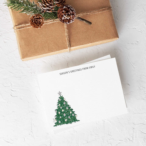 Oh Christmas Tree Stationery Set (personalize name)