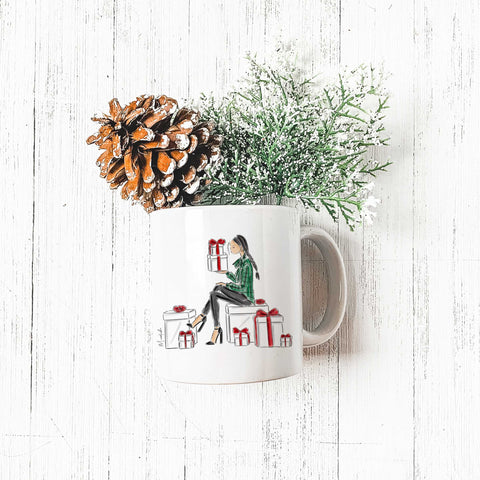 Holiday Gifts Mug (select hair color/skin tone)