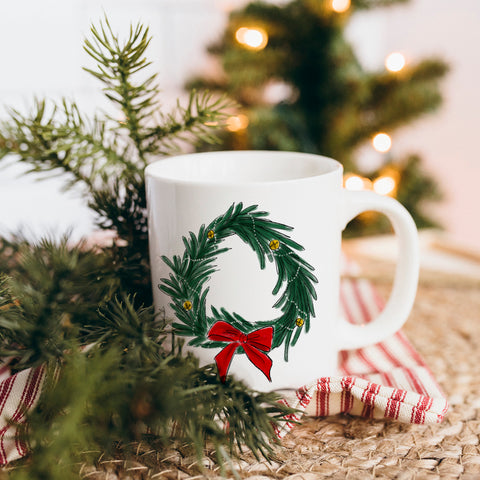 Holiday Wreath Mug