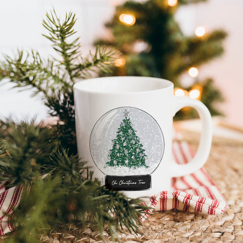 Oh Christmas Tree Snow Globe Mug
