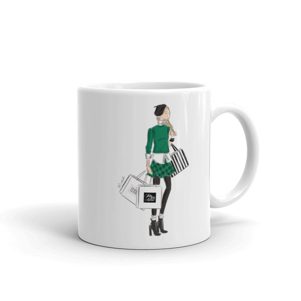 Shopping Bags Mug (select hair color/skin tone)